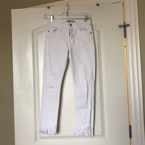 Frayed White Jeans